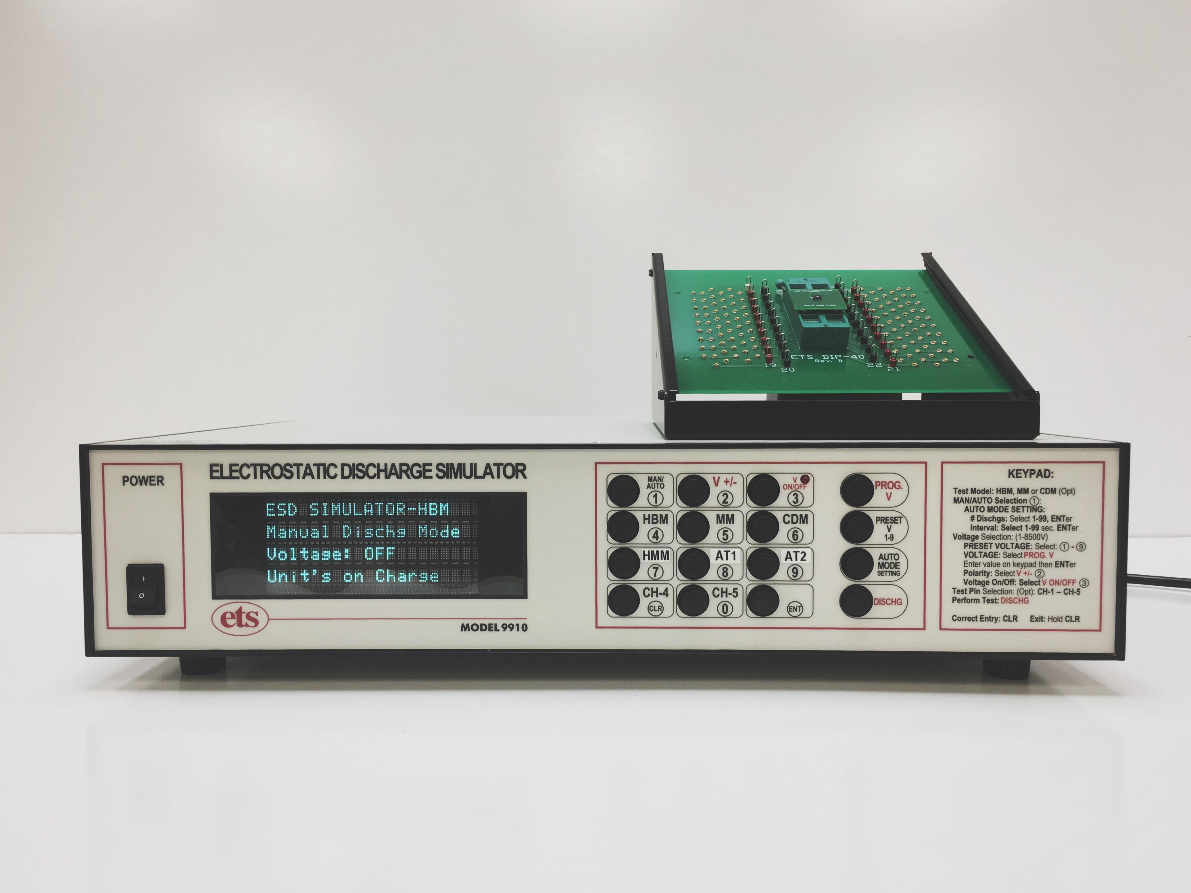 Model 9910 – ESD Simulator: HBM, MM, HMM, CDM