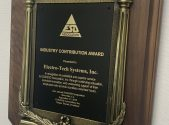 ESD Association presents the Industry Contribution Award for 2019 to ElectroTech Systems