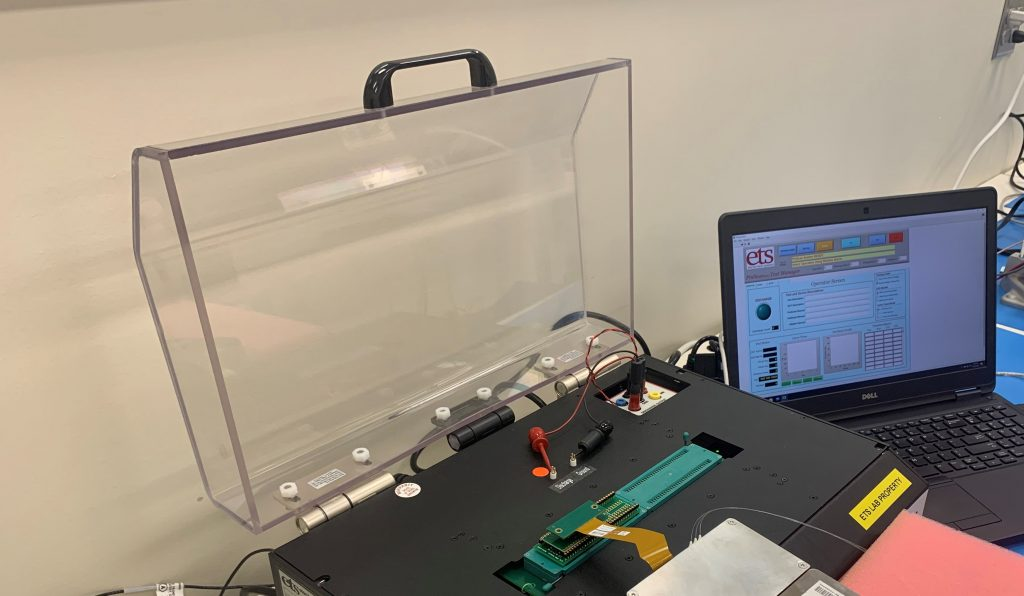 Model 9910 PinScan EST Simulator - Testing in Progress